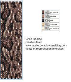 Pattern bijoux: Grille jungle3 peyote