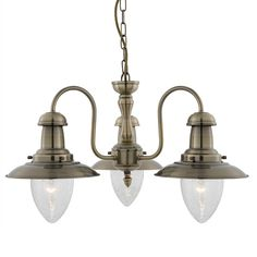 5333-3AB Fisherman Antique Brass 3 Light Pendant from Lights 4 Living