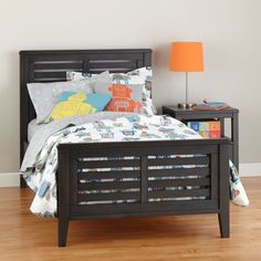 Shop Bayside Rustic Slatted Bed (Denim Finish).  With a timeless, traditional style, our Bayside Slatted Bed works perfectly in a boy's room or a girl's room.  It features stunningly beautiful wood grain that makes each piece unique.