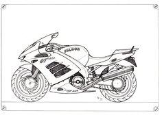 moto falcon lineart