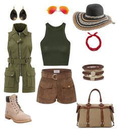 """""""IN LOVE IN AFRICA"""" by jo-df on Polyvore featuring mode, Topshop, Frame Denim, Ray-Ban, New Look, River Island, French Connection, Marissa Webb, Timberland et Rip Curl"""
