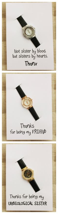 Brown Band Elegant Fashion Wrist Watch Unisex Gift Thanks Being My Friend Card Unisex Birthday Gift Watch