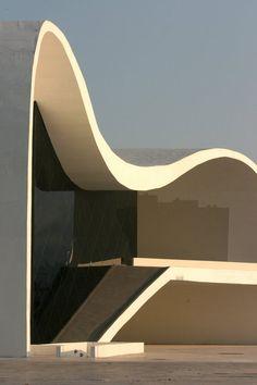 PURE SIMPLE GEOMETRY IN ARCHITECTURE BY THAT GENIUS: OSCAR NIEMEYER... Teatro Popular de Niterói... www.pinterest.com...
