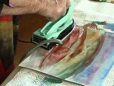 Heiße Effekte - Malen mit dem Bügeleisen
