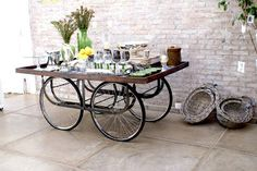 turn your old bicycles into tables