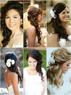 one side hairstyles for brides
