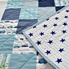 Baby Boy Quilt. Great inspiration for a super easy quilt