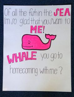 whale promposal - 20 best promposals or hocopromposals