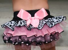 This is it...pink/black, damask, princess party...that is the theme. LOVE this tutu.