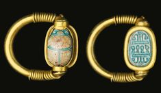 - An Egyptian Gold and Steatite Scarab Swivel Ring, Early 18th Dynasty, 1540-1400 B.C. /tcc/