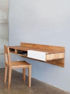 Furniture design (Wall Mounted Desk): Via andrewfm