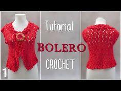 Como tejer bolero a crochet en varios talles (1/2) - YouTube