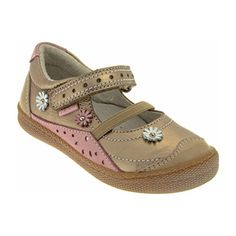 Beautiful soft leather Pirmigi girls shoe with delicate flowers. Boat Shoes, Italian Leather, Girls Shoes, Soft Leather, Mary Janes, Printing On Fabric, Taupe, Footwear, Frases