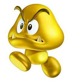 Gold Goomba - Characters Art - New Super Mario Bros Super Mario Bros, Game Mario Bros, Mario Run, Super Mario Party, Super Mario World, Super Mario Brothers, Mario Bros., Mario Kart, Super Smash Bros