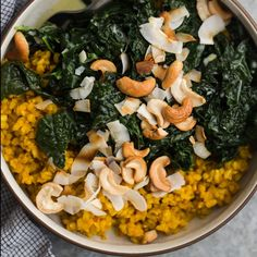 Turmeric Rice and Coconut Kale on the feedfeed