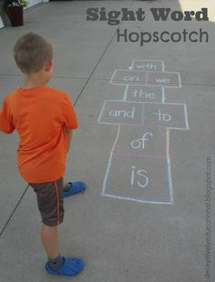 Relentlessly Fun, Deceptively Educational: Sight Word Hopscotch