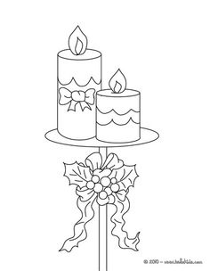 Candles for Christmas coloring page