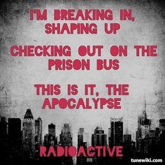 "-- #LyricArt for ""Radioactive"" by Imagine Dragons"