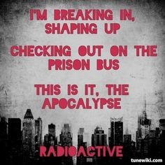 "-- #LyricArt for ""Radioactive"" by Imagine Dragons"