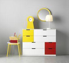 Explosão de cores. #decoração #cómodas #IKEAPortugal