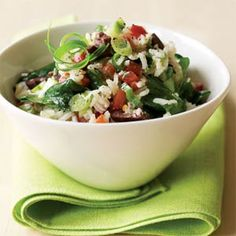 Mediterranean Rice Salad - so fresh and so clean, clean! Add some grilled salmon and I'm good to go...