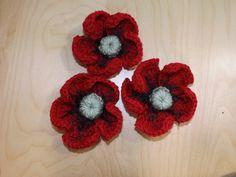 Crochet Flor De La Amapola  Poppy Flower