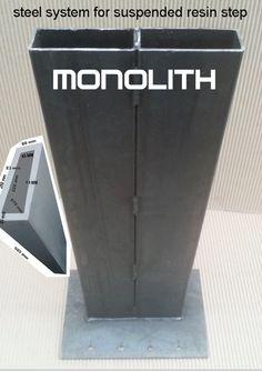 marche en resine monolith pour escalier exterieur kit acier pour escalier suspendu pinterest. Black Bedroom Furniture Sets. Home Design Ideas