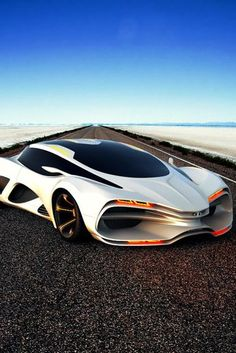 gosh! even the white one is so hott. how can i not pin it?! Lada Raven concept car 2013 - white