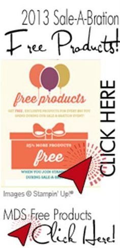 Free Stampin' Up! products! Shop now until March 22, 2013.