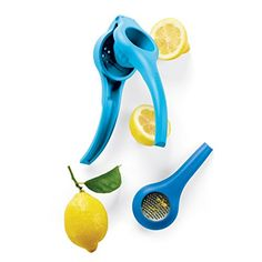 Add savory citrus to marinades, juices, salad dressings and oils with this do-everything tool. Combining a lemon-lime press with a zester, it features unique, micro-plane technology. Now you can zest lemons, limes or small oranges prior to squeezing to extract maximum flavor and nutrients.  Chamber holds up to ¼ cup/60 mL In Salt Water Taffy/Raindrop Quality Warranty