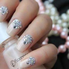 Lush Fab Glam Blogazine: Something Blue, Something Sparkly Wedding Nail Inspiration..