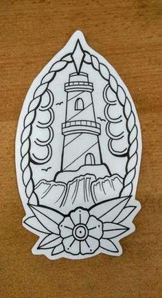 Lighthouse traditional tattoo by DO… Leuchtturm traditionelles Tattoo von NICHT KOPIEREN BITTE The post Leuchtturm traditionelles Tattoo von DO … appeared first on Frisuren Tips - Tattoos And Body Art Traditional Tattoo Old School, Traditional Tattoo Design, Traditional Tattoo Stencils, Traditional Tattoos, Tattoo Muster, Tattoo Motive, Kranz Tattoo, Rose Tattoo Hand, Traditional Lighthouse Tattoo