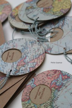 Invitaciones mapamundi... para un niño abierto al mundo.
