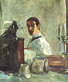 Self Portrait in Front of a Mirror, 1882 by Henri De Toulouse-Lautrec on Curiator, the world's biggest collaborative art collection. Henri De Toulouse Lautrec, Grant Wood, Guernica, Paul Gauguin, Henri Matisse, Claude Monet, Vincent Van Gogh, Famous Self Portraits, Animal Painter