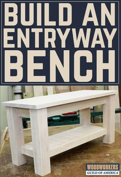 A bench that will be placed in a home's entryway is an important project for a couple reasons. First; visibility. It will be one of the first things that visitors see when they arrive, and so it will help to set the first impression of the overall home. Second, it is likely to receive a lot of use, particularly if there are children in the home, so durability is critical.