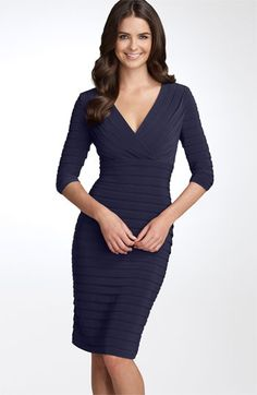 Adrianna Papell Pleated Jersey Sheath Dress available at #Nordstrom
