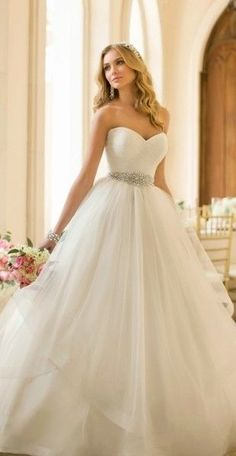 Gorgeous ball gown wedding dress @ http://womenapparelclothing.com #dress #clothing #womensdress