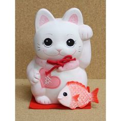 まねき猫 Cute Cats And Dogs, I Love Cats, Cats And Kittens, Japanese Bobtail, Japanese Cat, Maneki Neko, Tout Rose, Japanese Symbol, Cat Doll