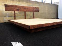 Best Danish Modern Jesper Platform Bed Floating Nightstands Mcm 400 x 300