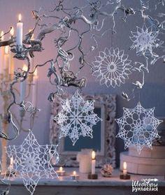 Crochet and arts: crochet Snowflakes