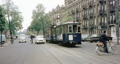 1966. A view of the Frederik Hendrikstraat with tramline 3 in Amsterdam-West. The Frederik Hendrikstraat runs between the Frederik Hendrikplantsoen and Hugo de Grootkade. The houses on the street were built around 1900, but in the 1990's large housing blocks were replaced by new construction. The Frederik Hendrikstraat crosses the Tweede Hugo de Grootstraat at the Hugo de Grootplein. Photo Stadsarchief Amsterdam. #amsterdam #1966 #FrederikHendrikstraat