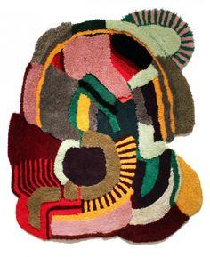 "A rug ""collage"" design."