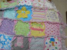 Memory Baby Rag Quilt Using Baby Clothing Story by ScooterBabies, $60.00