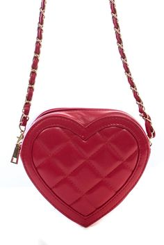 Heart Shape Padded Messenger With Metal Strap #GetEverythingElse #Clutch