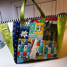 Patchwork Bags, Fabric Bags, Pouches, Making Out, Purses And Bags, Diaper Bag, Totes, Wallets, Applique