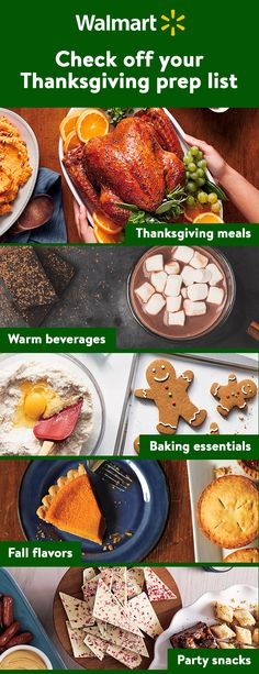Tick-tock, Turkey Day is coming! Use Walmart'sThanksgiving shopping list to help check your pantry and organize your food shopping trips.Visit Walmart.com to find the list and start off the holiday season right!
