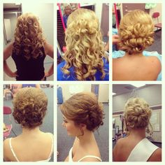 Pageant hair #hair #updos #curly