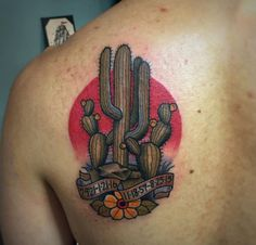 Cactus Tattoo Design by Abel Sanchez