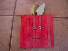 La-La's Home Daycare: Apple Popsicle Stick Craft