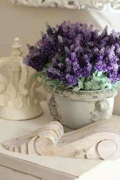 Love ivory and purple